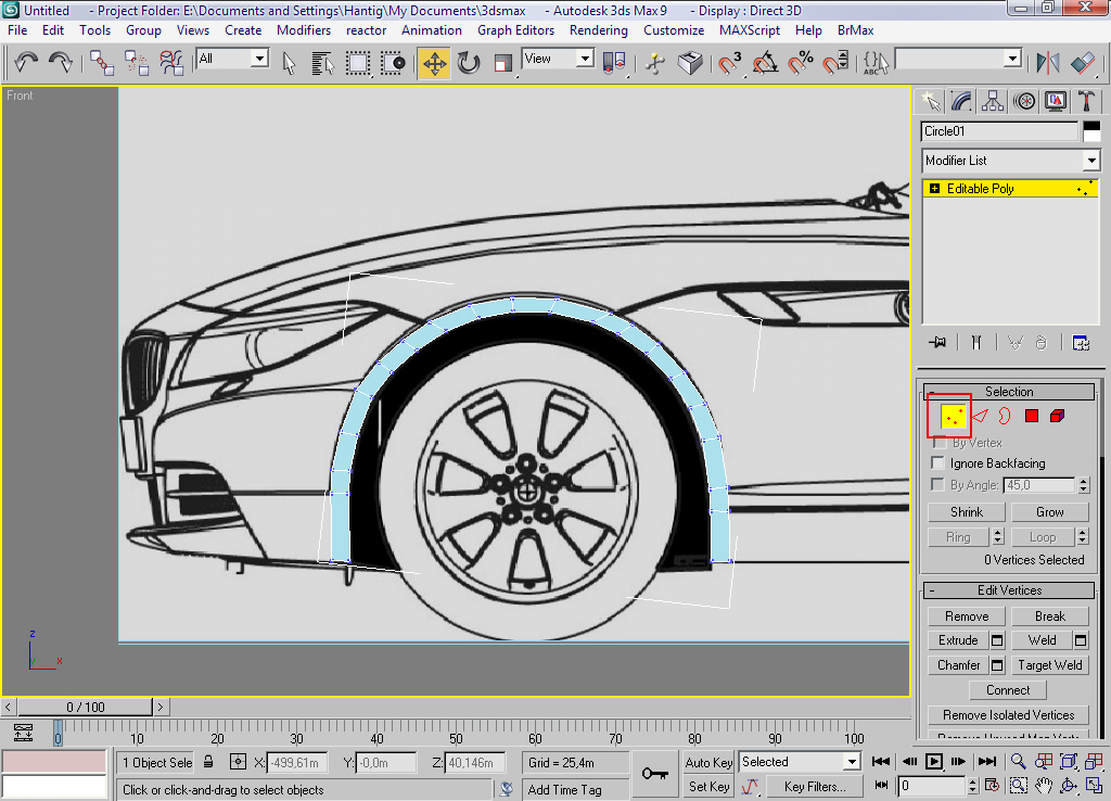 Car modeling bmw z4 part 1 free3dtutorials step 05 now you have to arrange the vertices to fit with the car blueprinttopsidefront malvernweather Choice Image