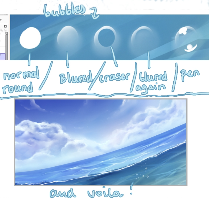 Painttool sai water tutorial for Painting on water tutorial