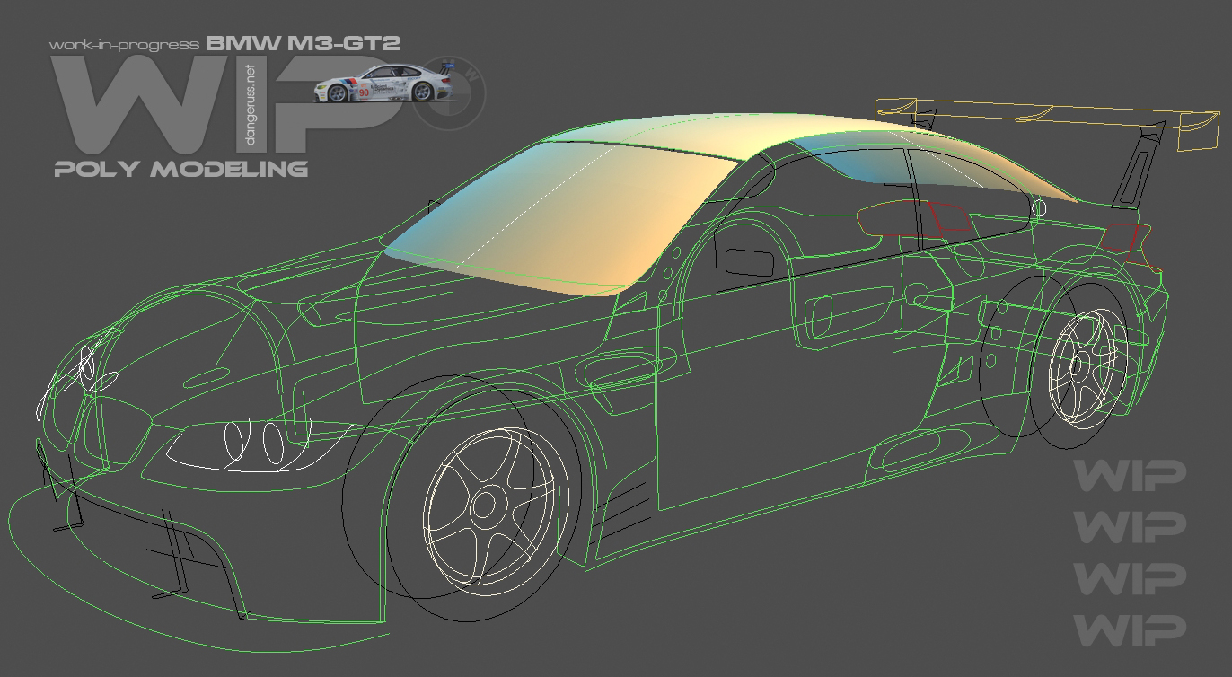 Poly modeling BMW M3 GT2