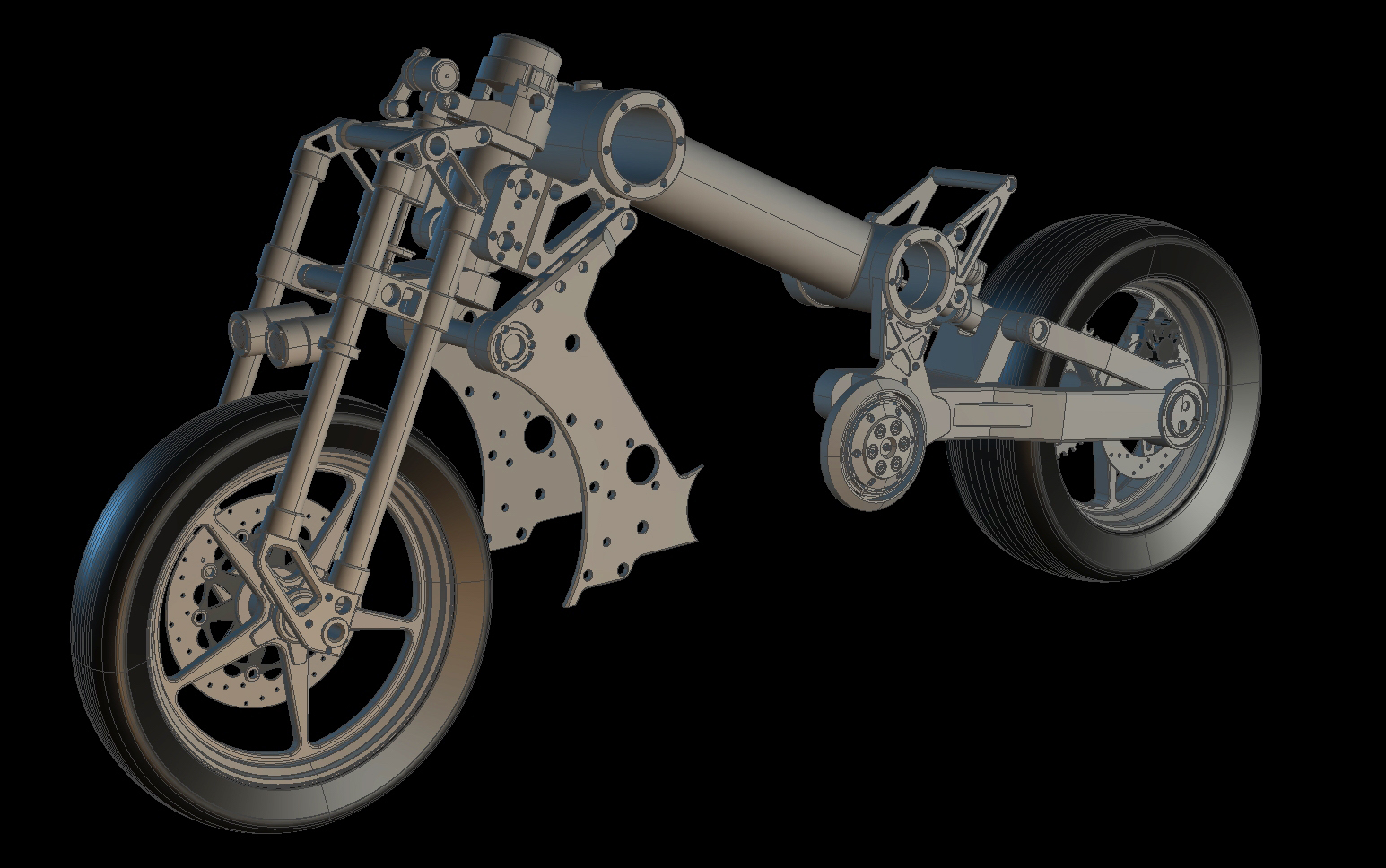 3D Motorcycle modeling - Confederate P120 Fighter