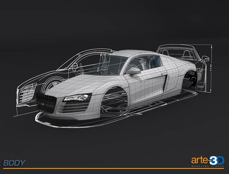 Making Of Audi R In Desert FreeDTutorialscom - Audi car 3d image