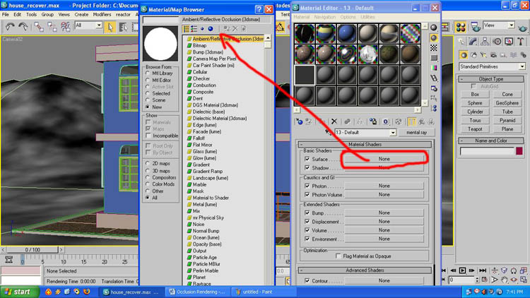 how to set up metal ray satellite renderingin 3d max