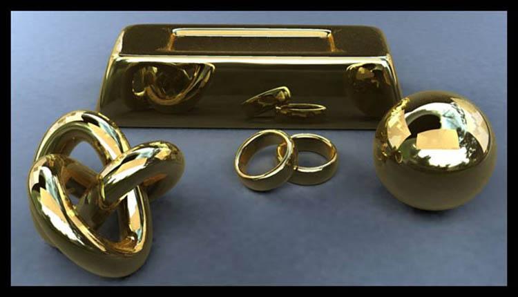 Creating a gold material | free3DTutorials com