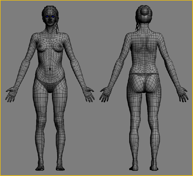 Female figure modeling tutorial Simple 3d modeling online