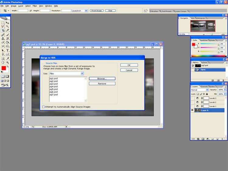 Создание HDRI изображений *