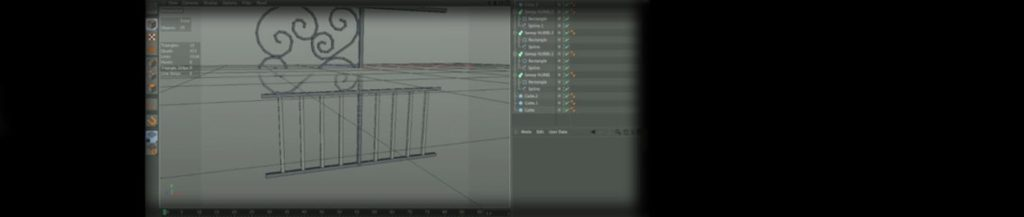 Cinema 4D – Modeling a Gate – part 2