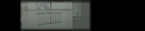 Cinema 4D – Modeling a Gate – part 1