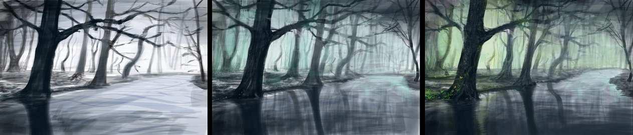 Photoshop – Fantasy Forest – Work Progress