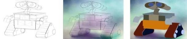 Photoshop – Wall-E – Work Progress