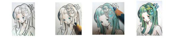 Hair tutorial – drawing