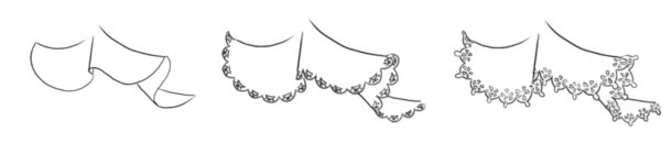 Lace tutorial – drawing