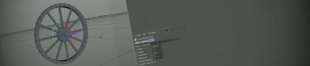 Modeling a wheel in Cinema 4D