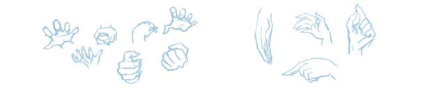 How to draw a hands – step by step tutorial