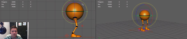 Maya Walk Cycle Tutorial #2 Setting the 1st Contact Pose