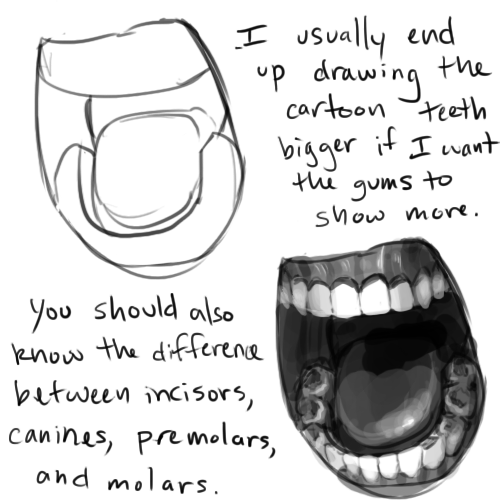 Tooth Line Drawing Tumblr : How to draw teeth free dtutorials