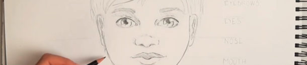 #4 Drawing a Comic – Child's face